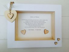 Shabby Personalised Chic Box Frame Present Mother Father Of The Bride From Groom